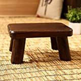 Denzihx Vintage Meditation Tatami mats Floor Stool,Step stool Wood [japanese-style] Mini Small Stool-A