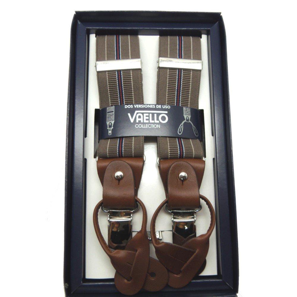 893905692 VAELLO - Tirante estampado mixto con pinzas de gran calidad y piel para  botones