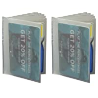 Set of 2-6 Page Plastic Wallet Insert for Bifold Billfold or Trifolds Top Load