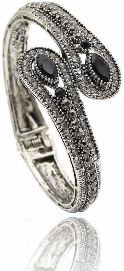 Thumby Mode Bijoux R/étro Bracelet Bracelet Bracelet de Printemps Bijoux Indiens Indiens Alliage Vintage Femmes G/éom/étrique Plaqu/é Plaqu/é Or Pierre Pr/écieuse Marquet/ée//Pierre Semi-Pr/écieuse Noir
