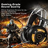 ALWUP-Stereo-Gaming-Headset-for-PS4-Xbox-One-Headset-Lightweight-Noise-Cancelling-Over-Ear-PC-Gaming-Headphones-with-Anti-Noise-Mic-50mm-Drivers-Surround-Sound-Soft-Memory-Earmuffs