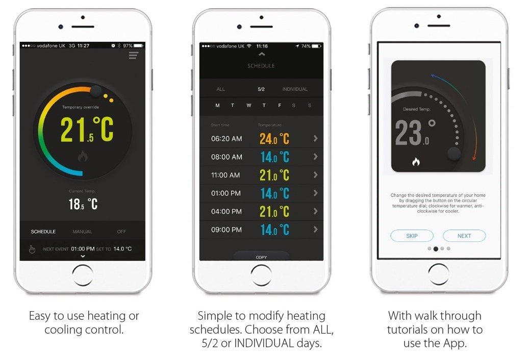 Termostato inalámbrico programable controlable por smartphone y unidad receptora, de Salus: Amazon.es: Bricolaje y herramientas