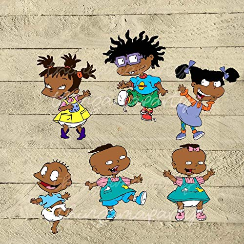 Rugrats Chuckie Angelica Tommy Phil Lil Kimi Edible Cake Topper Image ABPID22405 - 1/8 sheet
