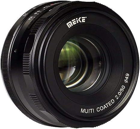 Meike MK-4/3-50-2.0 50 mm f2.0 Lente de enfoque manual grande APS-C para Olympus para cámaras Panasonic M4/3 sin espejo: Amazon.es: Electrónica