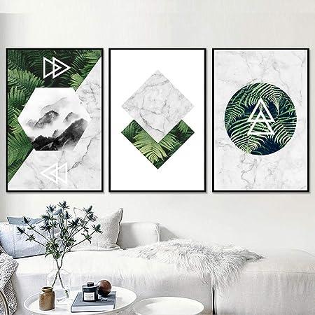 Minimaliste Forêt Nuage Motif Rayure Géométrique Toile Art