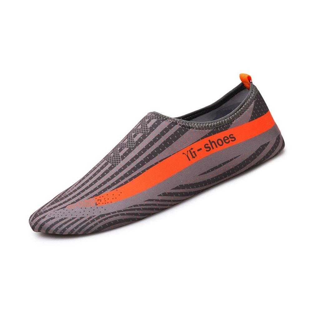 Humasol Men Women's Lightweight Quick-Dry Aqua Shoes Multifunctional Water Socks for Swim Beach Pool B073WTH3QT US Women:5-6 (EU 35-36)|Y6-Grey & Orange