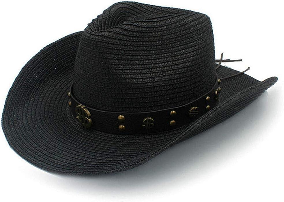 Mens Western Cowboy Hat Summer Beach Sombrero Jazz Sun Caps Unisex ... ef3877a6535