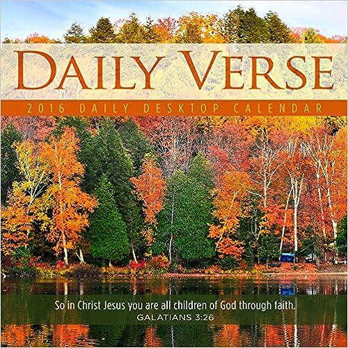 2016 Daily Verse Daily Desktop Calendar