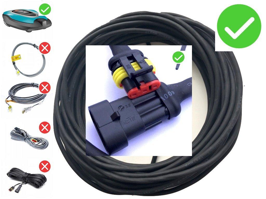 EcoBioEnergy Transformer Low Voltage Cable Wire for - Gardena SILENO Robotic Lawnmower R100LI R100LIC R130LI R130LIC R160LI - [only Suitable for 2016 2017 2018 Models] - (30 Meter [98 feet])