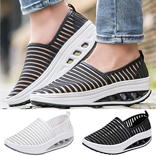 Mesh Flops Thongs Black Fitness Walking Outdoor Women VEMOW Shoes Dance Mary Espadrilles Platform Sports up Trainers Sneaker Wedge Running Casual Cute Flip for Janes Lace Flats Shake F6RwqBO