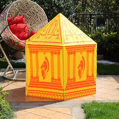 Roman Tent - Virtper US Children Game Tent Color Palace Pattern Hexagonal Indoor and Outdoor Toys Tents (only One Tent) (Color : #B)