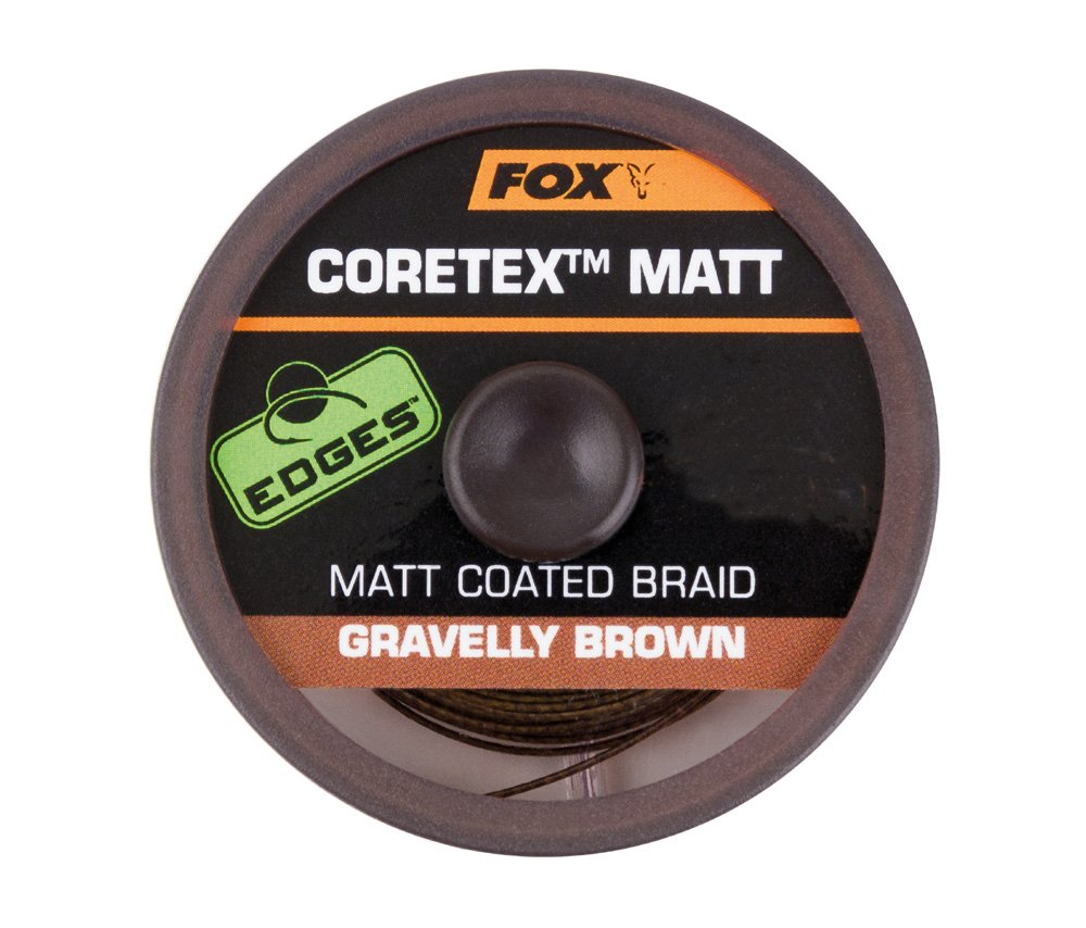 Fox Coretex Matt Coated Braid 25lb Gravelly Brown