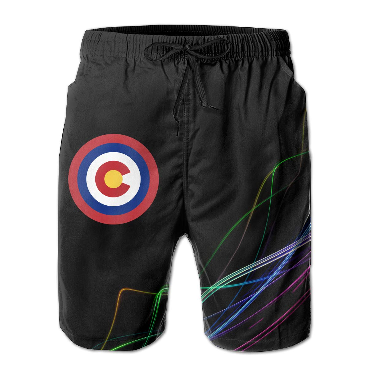 STLYESHORTS Colorado Captain Shield Mens Board Shorts Swim Trunks Beachwear Surf Board Beach Home Beach Trunks