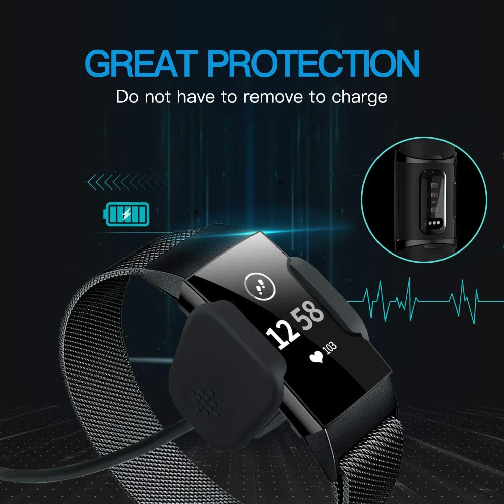 Charge 3 Charge 3 SE Smartwatch NANW Screen Protector Compatible with Fitbit Charge 4 3 Pack Soft Slim Full-Around Protective Charge 3 Case Cover Bumper for Charge 4 Charge 3