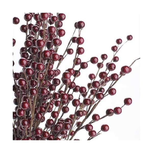 Factory-Direct-Craft-Package-of-12-Burgundy-Berry-Floral-Sprays-for-Christmas-Holiday-Party-and-Wedding-Decorating