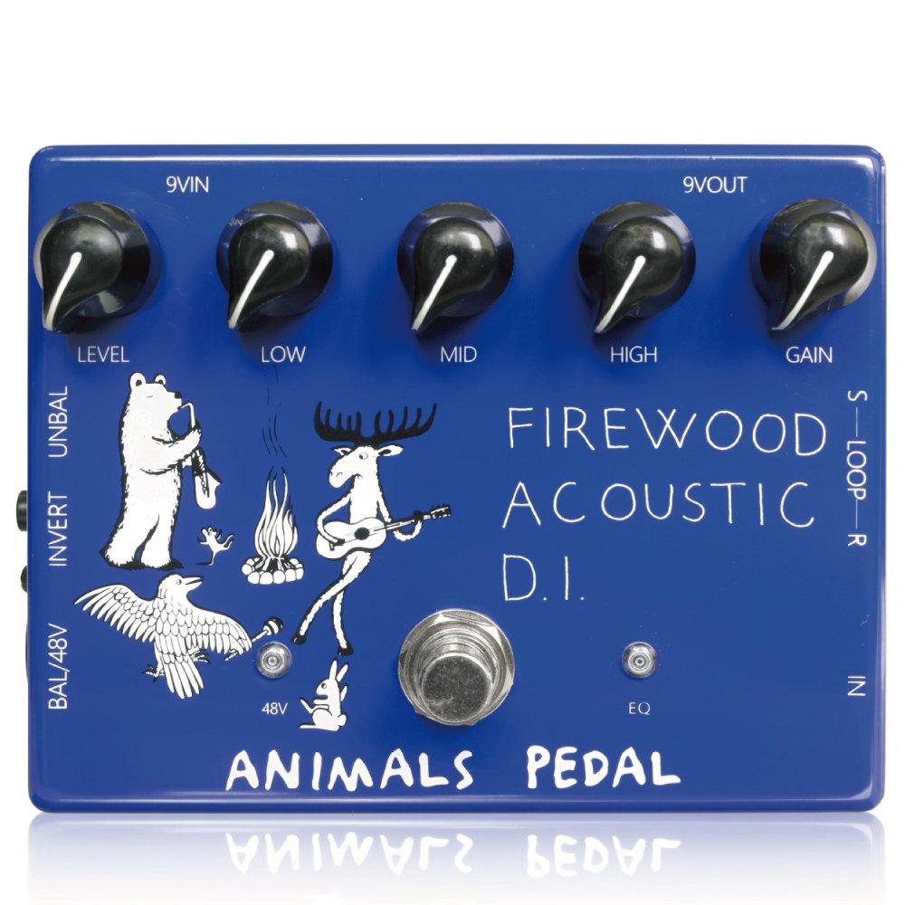 Animals Pedal (アニマルズペダル) Firewood Acoustic D.I. / 3種類のEQ (High、Mid、Low)、エフェクトループを搭載したアコースティックギター用DI   B06XHFH5Q4