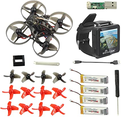 Happymodel Mobula7 V2 75mm Crazybee Pro OSD 2S Whoop FPV Racing Drone neu