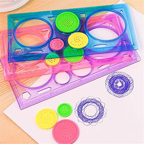 MAZIMARK--Cute Stationery Spirograph Geometric Ruler Drafting Drawing Art Students - Cards California Law Gift