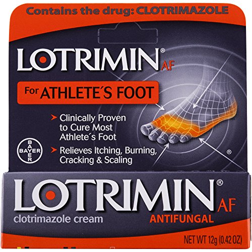 Lotrimin AF Cream for Athlete's Foot, Clotrimazole 1% Antifungal Treatment, Clinically Proven Effective Antifungal Treatment of Most AF, Jock Itch and Ringworm, Cream, .42 Ounce (12 Grams) ()