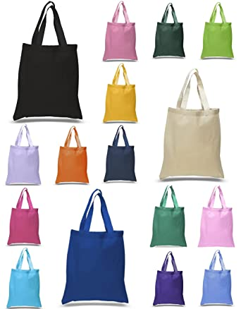 2a7fe6a26f888 Lot of 24 100% Cotton Plain Eco-Friendly Reusable Grocery Tote Bags by  BagzDepot
