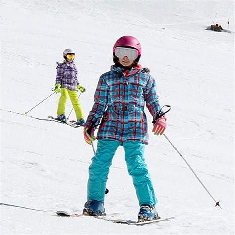 HXSKI Traje de esquí para niños, Baberos de esquí y Chaqueta ...