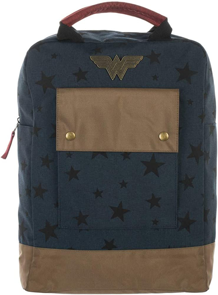 Wonder Woman Comic Book Superhero Stars Tech Backpack