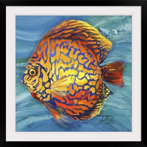 "GreatBIGCanvas GreatBIGCanvas ""Vibrant Sea Life IV"" by Patricia Pinto Photographic Print with Black Frame, 30"" x 30"", 30"" x 30"""