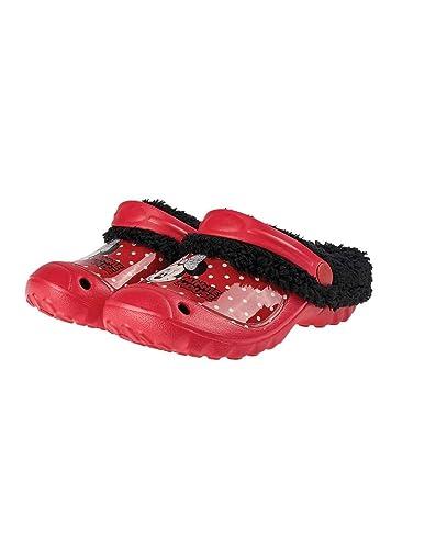 fe0ec629466 Minnie Sabots - Crocs fourrés Enfant Fille Rouge Noir du 24 au 31 - Rouge