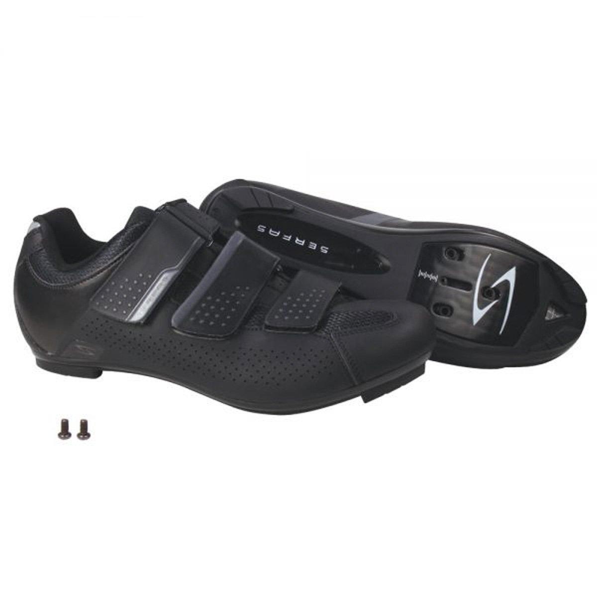 SerfasレディースPaceline 3-strap Road Cycling Shoe – swr-401b 37 ブラック B077JQFH66