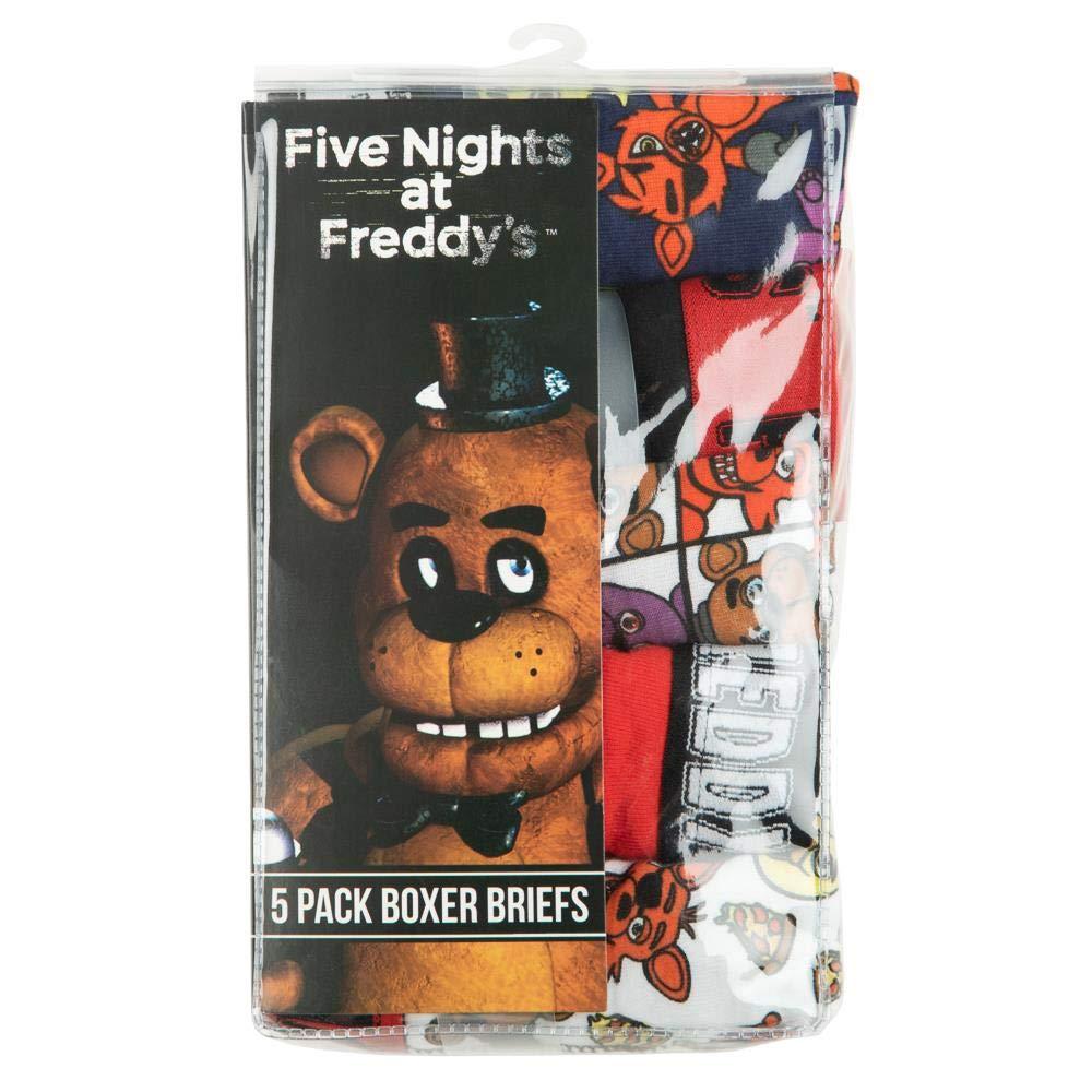 5 Pack Bioworld Five Nights at Freddys Boxer Briefs Underwear Set