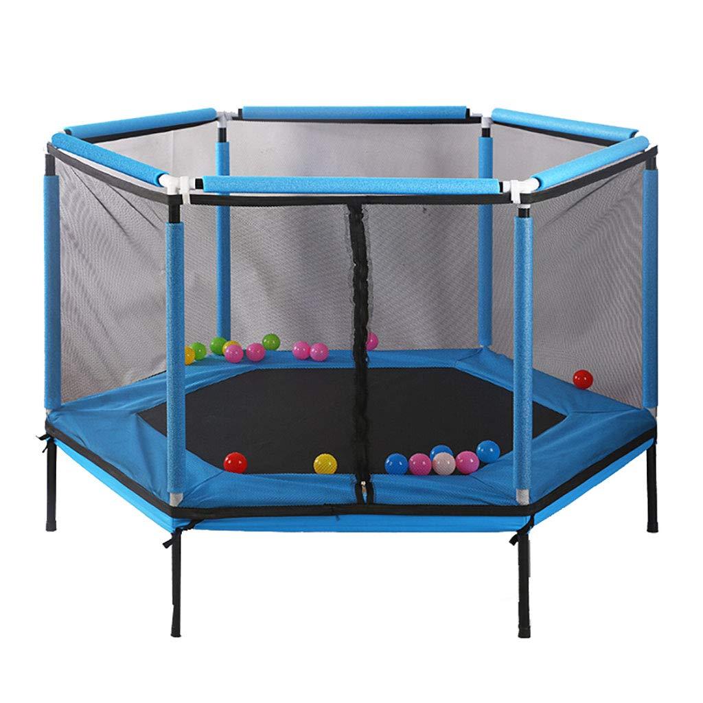 Blau XinYing-BBC Trampolin Mit Sicherheitsnetz-GehäUse - FüR Kindergeburtstagsgeschenke Spielzeug - Schwere QualitäT - 350 Lbs Sprungkraft Auf Rahmen Und Federn