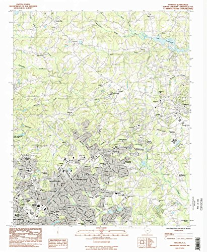 Taylors SC topo map, 1:24000 scale, 7.5 X 7.5 Minute, Historical, 1983, updated 1983, 26.7 x 22 IN - - Brookwood Village