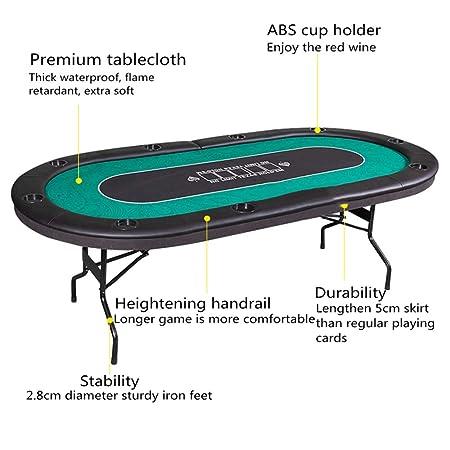 EXCLVEA Mesa Plegable para póquer Texas Holdem Poker, Mesa de ...