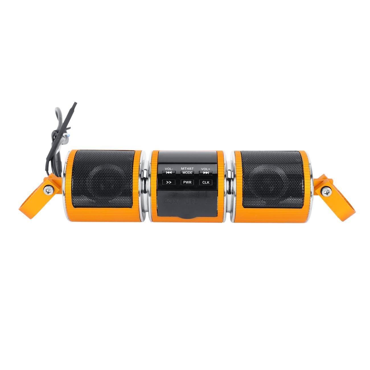 7//8 Handlebar INNOGLOW Motorcycle Bluetooth Speaker Wireless Bluetooth Audio Radio USB FM MP3//WMA Universal fits for any Motorbike with 22mm