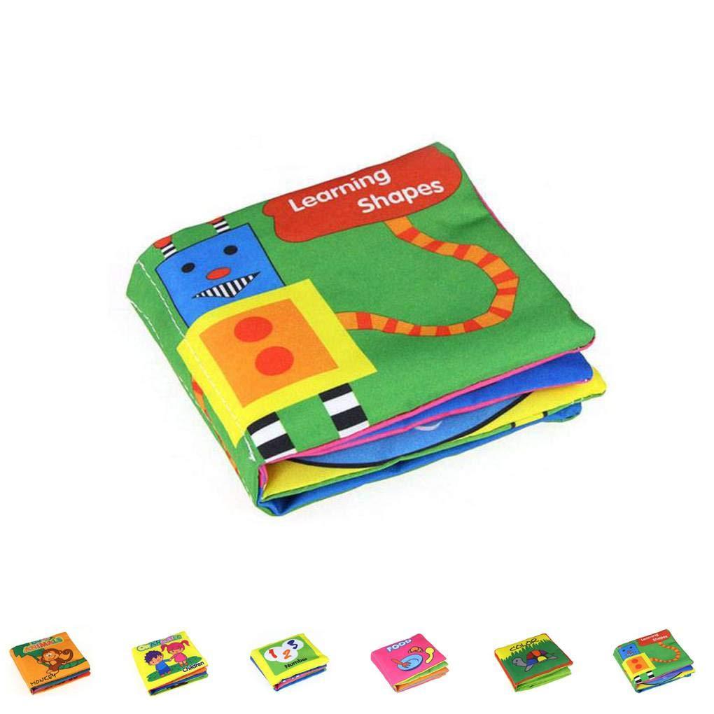 Aiming Los Libros de paño Suave Infantil Rustle Sonido educativos para la Primera Sonajero Cochecito de Aprendizaje: Amazon.es: Hogar