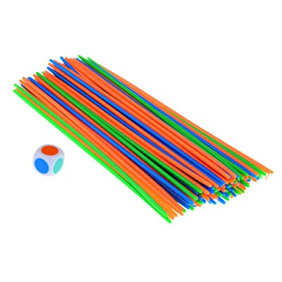 100 Pcs Plastic Pick Up Sticks with a Dice Classic Game Fun Family and Party Game Good Kids Gift : Baby [5Bkhe0306777]