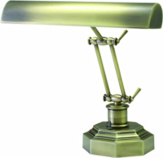 product image for House of Troy P14-203-AB 12-1/2-Inch Portable Desk/Piano Lamp, Antique Brass