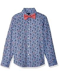 Tommy Hilfiger Boys Big Boys Long Sleeve Stretch Dress Shirt with Bow Tie