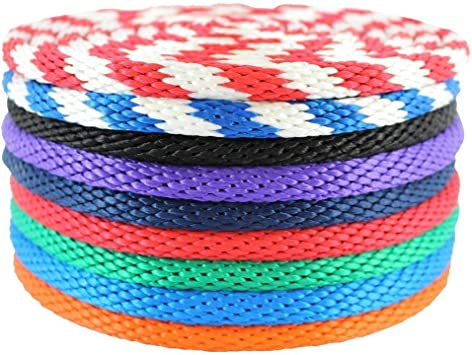 Animal Handling Crafting Derby Rope SGT KNOTS Solid Braid Docks Theater Multifilament Polypropylene Rope 1//2 inch Soft Touch MFP Floating Line 250 feet - Blue//White Boating