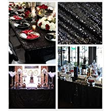 """B-COOL 90""""X90"""" square Black sequin tablecloth popular and elegant garden decoration tableclcoth SQUARE"""