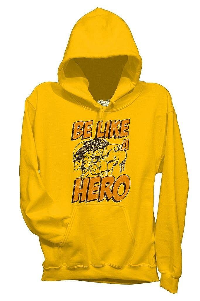 Felpa Like Hero - Avengers - Film by Mush Dress Your Style - Bambino-XL-Gialla mushF-IT-1033-K-YEL-05