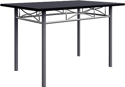 Deuba Conjunto de cocina Paul de color negro set de 1 mesa y 4 ...