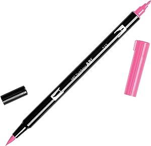 Tombow Dual Brush Pen Art Marker, 743 - Hot Pink, 1-Pack (DBP-56583)