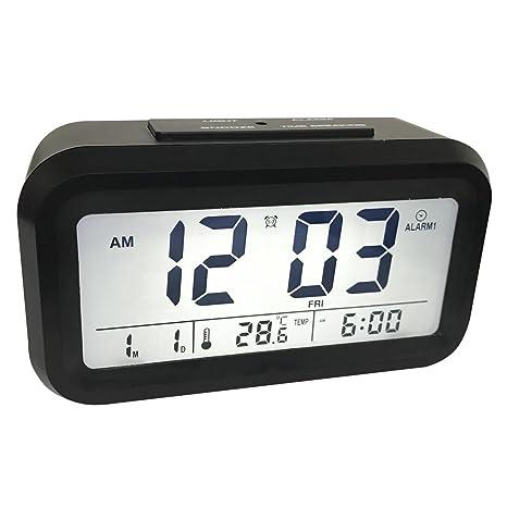 Easyhome Reloj despertador digital con tres Alarmas, función ...