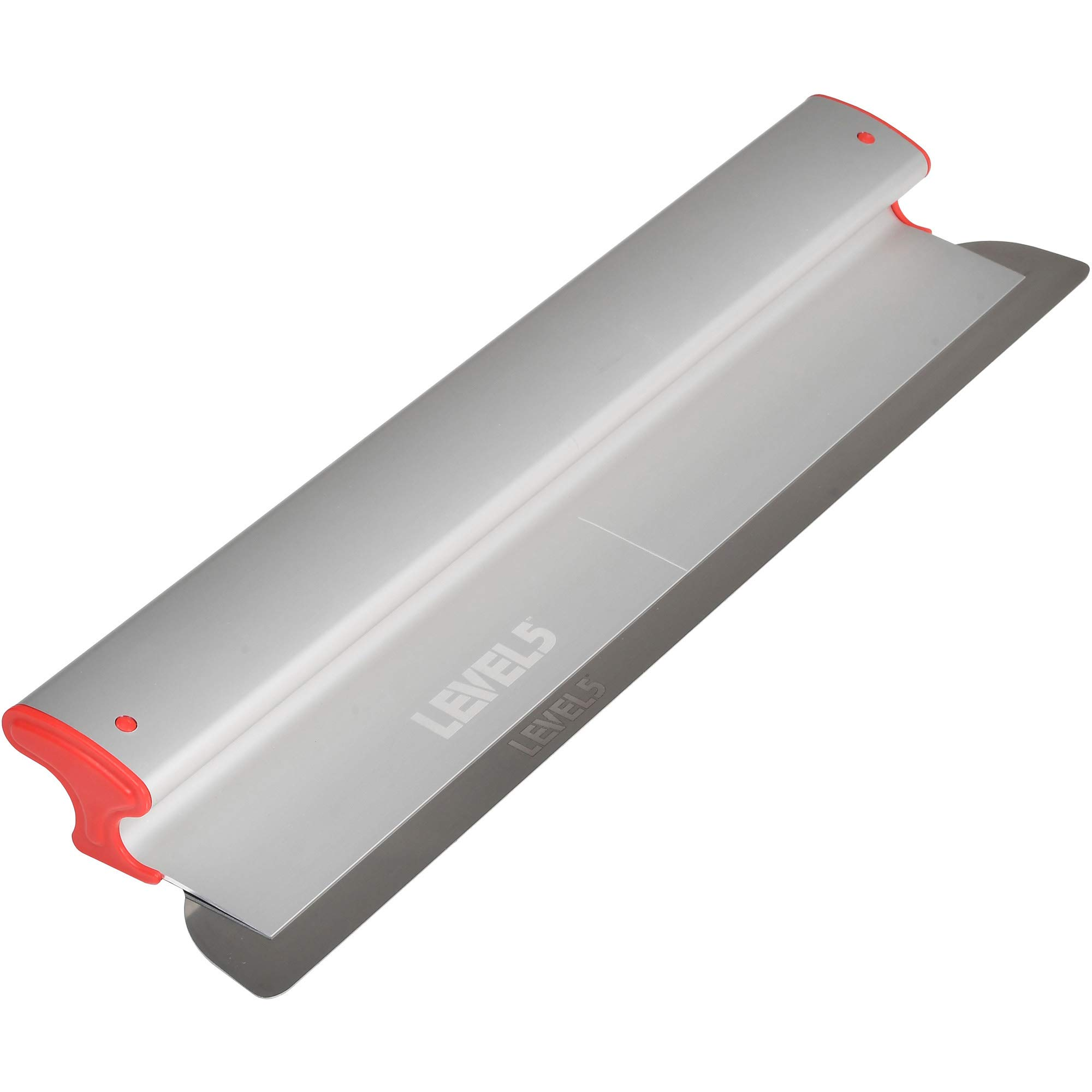 Drywall Skimming Blade, 24-Inches - LEVEL5 | Pro-Grade | Extruded Aluminum & European Stainless Steel Construction | High-Impact End Caps | Sheetrock Gyprock Wall-Board Plasterboard | 4-924