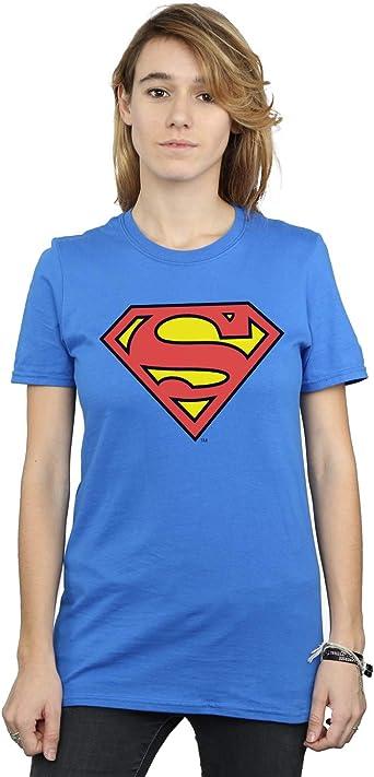 DC Comics Mujer Superman Logo Camiseta del Novio Fit: Amazon.es: Ropa y accesorios