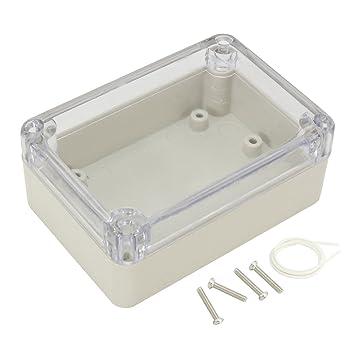 Sourcingmap 100/x 50/x 50/mm ABS-Kunststoff-Geh/äuse transparent