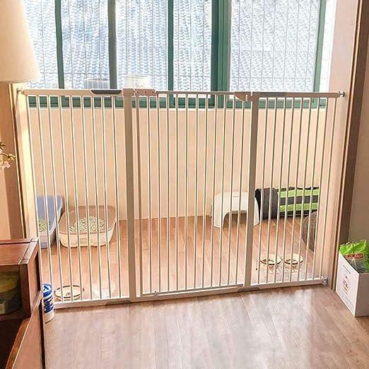 Barrera de seguridad Puerta para Mascotas Walk-Thru Extra Alta para Perros Y Gatos, Puerta De Seguridad para Bebés con Cierre Automático para Casa/ Escaleras/Puertas/Pasillos, Altura De 120cm, Bl: Amazon.es: Hogar