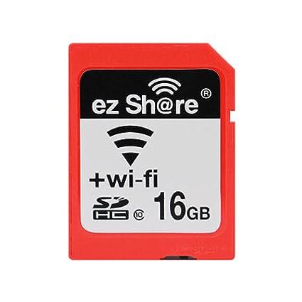 Ez Share SDHC Wifi Tarjeta de Memoria SD de 16 GB, Clase 10 Wireless LAN Inalámbrico para Cámara DSLR Móvil Inteligente iPhone iPad Ordenador Tableta