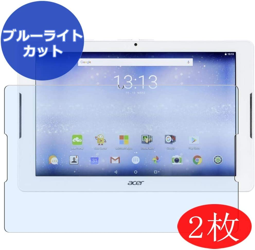 """【2 Pack】 Synvy Anti Blue Light Screen Protector for ACER iconia one 10 B3-A32 10.1"""" Screen Film Protective Protectors [Not Tempered Glass]"""
